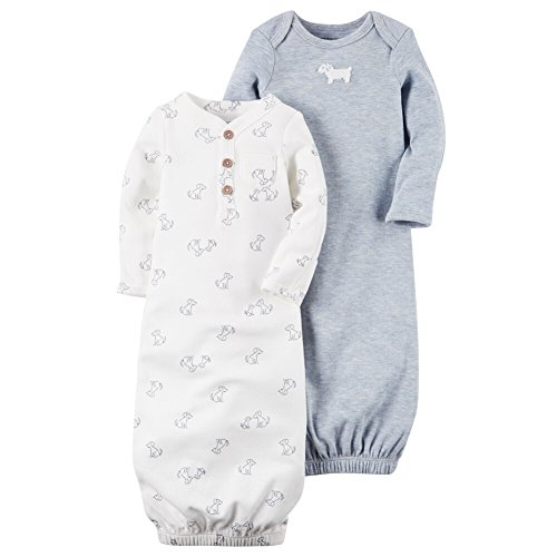 Carters Baby Boys 2-Pack Puppy Gowns
