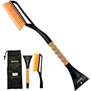 "#LightningDeal AstroAI 27""Snow Brush and Detachable Ice Scraper with Ergonomic Foam Grip for Cars, Trucks, SUVs (Heavy Duty ABS, PVC Brush)"