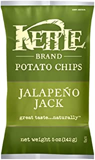 product image for Kettle Brand Potato Chips, Jalapeno Jack, 5-Ounce Bags (Pack of 15)