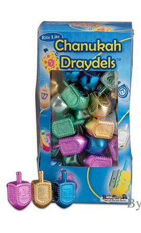 Metallic Colored Plastic Hanukkah Chanukah Dreidels - 100 Pack