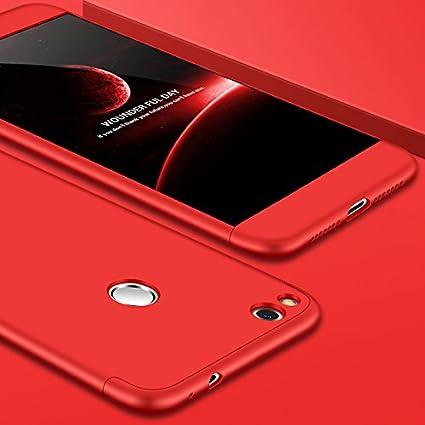 JMGoodstore Funda Compatible Huawei P9 Lite 2017,Carcasa 360 Grados Integral Ambas Caras+Cristal Templado,[ 360°] 3 in 1 Slim Dactilares Protectora ...