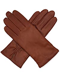 Womens Luxury Italian Lambskin Nappa Leather Gloves Vintage Finished