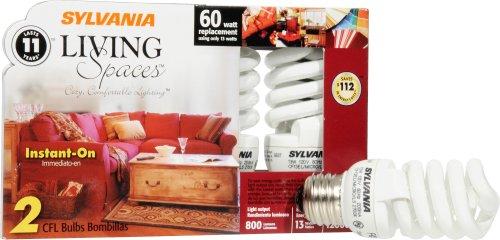 (Sylvania 29972 Compact Fluorescent Micro Mini Light Bulb, 13-Watt)