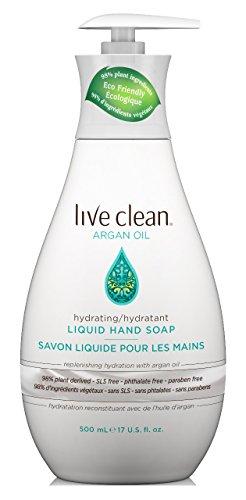 Oil Hand Soap - Live Clean Hand Soap Argan Oil 17 Ounce Pump (502ml) (2 Pack)