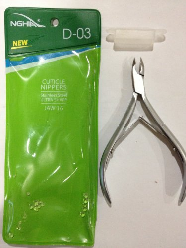 Nghia Stainless Steel Cuticle Nipper C-04 (Previously D-03) Jaw 16 by Thorlight