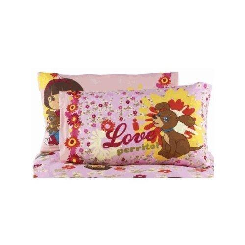 Dora the Explorer Loves Puppy Cotton Rich Reversible Pillowcase ()