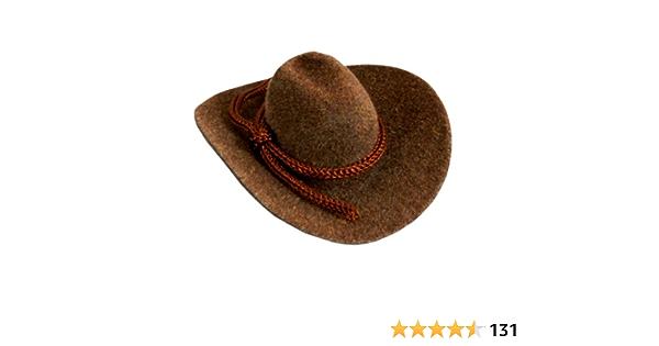 10 Kunststoff Mini süß Western Cowgirl Cowboy rosa Mütze für Miniatur Spielzeug