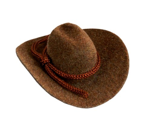 "12pcs Mini Cowboy Hat Western Wedding Favors Decoration 2"" Brown"