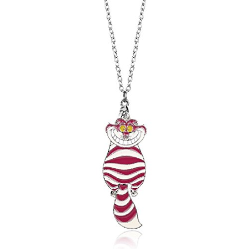 Ivy & Clover Wonderland Inspired Chesire Cat Necklace (Cat Cheshire Jewelry)