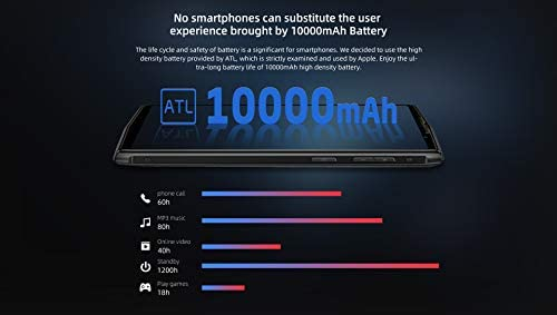 DOOGEE N100 10000mAh Batería Teléfono Móvil Libre, Carga Inalámbrica, 5.99 Pulgadas FHD + Smartphone Android 9.0, Cámara 21MP + 8MP, Helio P23 Octa Core 4GB + 64GB, GPS NFC Dual SIM Diseño