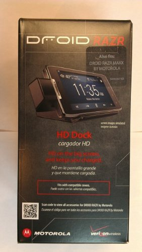 Motorola Razr Cradle - Motorola Droid Razr Maxx Hdmi Multimedia Station Desktop Charger Dock OEM Retail Package