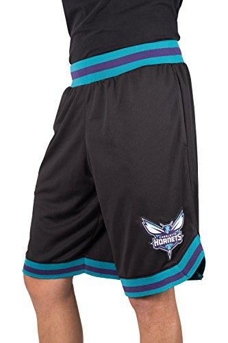 - Ultra Game NBA Charlotte Hornets Men's Mesh Basketball Shorts Woven Active Basic, Large, Black
