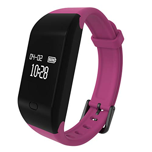 ker HR,Activity Tracker with Heart Rate Monitor, IP67 Waterproof Smart Bracelet, Fitness Watch with Calorie Counter,Sleep Monitor,Pedometer Watch for Kids Women and Men ()
