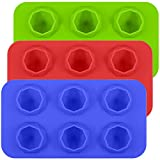 Silicone Diamond Ice Molds, SENHAI 3 Pack Ice Cube Trays Cake Molds for Gumdrop Jelly Chocolate Bread Soap Wax, Available in Oven Fridge Microwave Oven Freezer