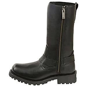 """Milwaukee Leather Men's 11"""" Classic Harness Boot Square Toe Wide Black 11 EE"""