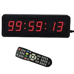 BTBSIGN LED Digital Countdown Wall Clock Fitness Timer Stopwatch for Gym (1.5inch Digital High)