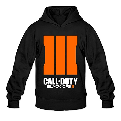 DVPHQ Men's Funny Call Logo Duty Black Ops Iii Hoodie Size L - Hoodies Black Duty 2 Call Ops Of