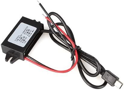 Convertidor Conversor de 12V a 5V 3A DC-DC USB Negro