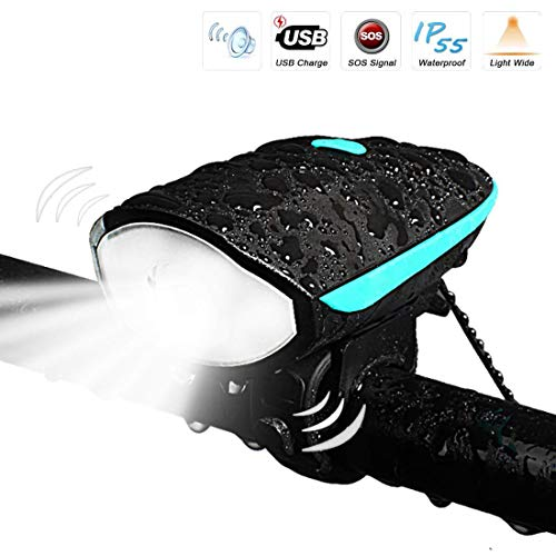 - Bike Light with Loud Bike Horn, LETOUR Rechargeable Bicycle Light Waterproof Cycling Lights, bicycle Light Front with Loud Sound Siren, 3 Lighting Modes 5 Sounds