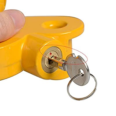 Haloview Universal Coupler Lock, Adjustable Storage Security, Heavy-Duty Steel: Home Improvement