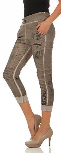 Stretch 7556 Femme Jogg Fango Pantalon Jeans Malito qSO6tPn