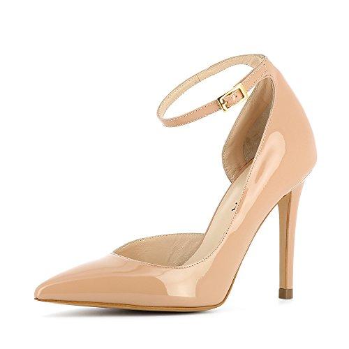 claro Evita para Zapatos Shoes mujer de beige vestir Alina de Piel wOv6wqA4