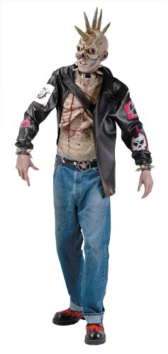 Zombie Punk Halloween Costume (Punk Zombie Adult Costume - Standard)