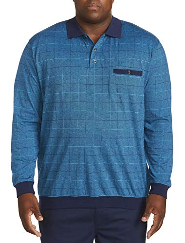 Harbor Bay by DXL Big and Tall Long-Sleeve Double Square Banded Bottom Shirt