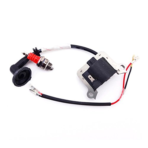 TC-Motor Ignition Coil + Red L7T Spark Plug For 2 Stroke 33cc 43cc 49cc Engine Parts Chinese Goped Scooter Mini Moto Super Pocket Bike
