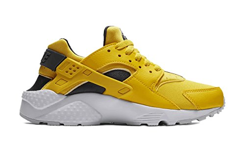 Nike Youth Hurache Run GS Textile Yellow Anthracite White Trainers 6 US (Nike Mens Air Trainer Huarache)