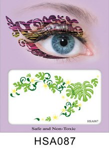Party Eyes Temporary Lace Tattoo Lace False Eyelashes Halloween MakeUp Stickers - HSA087 Sticker Tattoo - FashionDancing (Halloween Eye Makeup Stickers)
