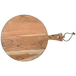 Tabla de cortar redonda Acacia grande