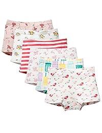 Little Girls' Boyshort Underwear Cotton Briefs Panties Set 5 Pack