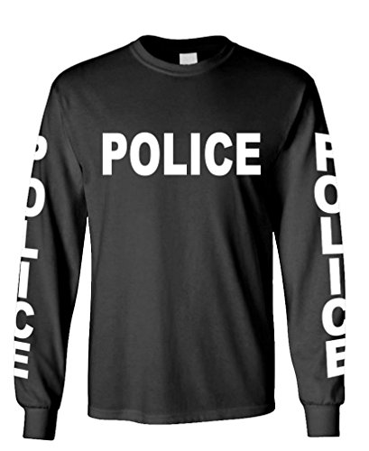 POLICE - novelty duty cop law enforcement - Long Sleeved Tee, M, (Police Novelty T-shirts)
