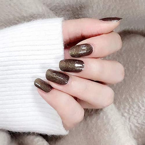 (Color Lab 22PCS ADHESION Nail Art Transfer Decals Sticker DIY Nail Polish Strips,Nail Wraps, Nail Patch, 100% Real Nail polish applique for Winter Cats' Eye, S618 Far mountain)