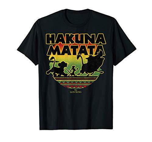(Disney The Lion King Simba Timon Pumba Worry Free Sunset T-Shirt)