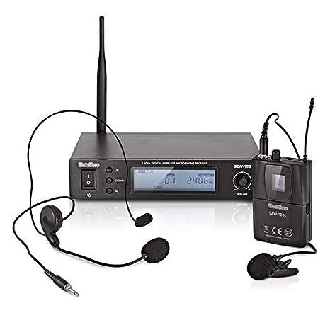 SubZero SZW-100L Sistema de Microfonos de Diadema y de Solapa ...