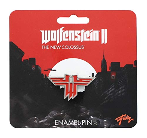 Wolfenstein New Colossus Metal Enamel Collector Pin| Collector's Edition Red ()