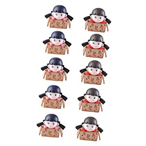 MonkeyJack 10pcs Micro Landscape Girls Ornament Scenery Bonsai Gardening Accessories