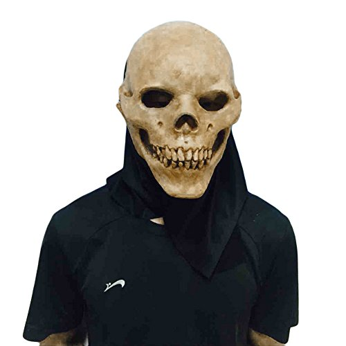 [DASARA Halloween Cosplay Scary Skull Mask Skeleton Azrael Costume Theater Prop Novelty] (Breaking Bad Pumpkin Stencils)