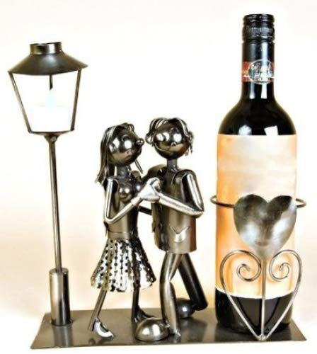Dancing Couple Wine Bottle Holder Amazoncouk Kitchen Home