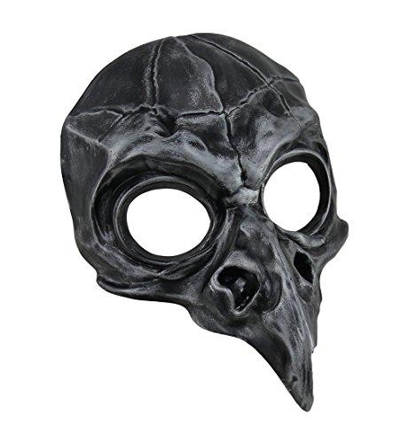 Metallic Crow Skull Half Face Steampunk Bird Mask