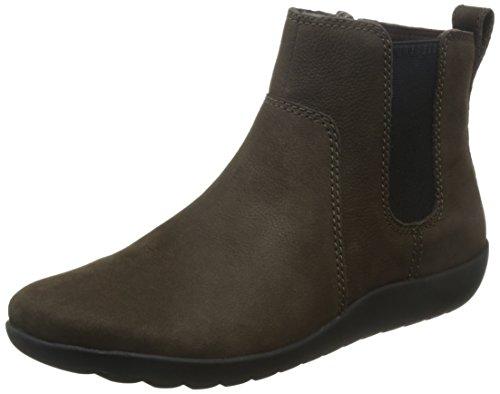 Clarks Womens Medora Grace Black/Leather Heels Dark Taupe (Brown)