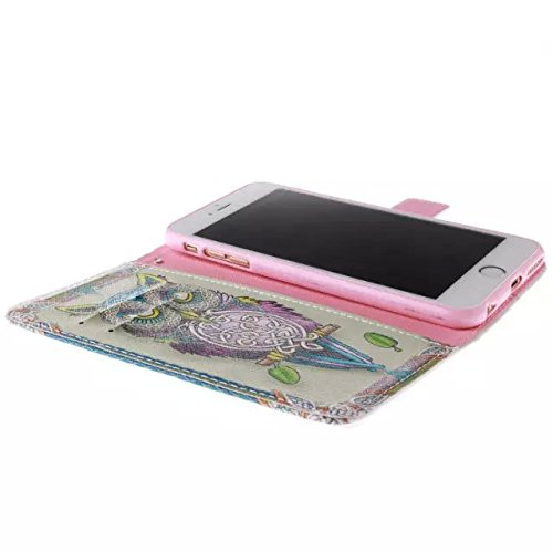 """iPhone 6s Case, DRUnKQUEEn TM Wallet Case for iPhone 6 / 6s (4.7"""") Side Flip Wallet PU Leather Stand Case Cover with Magnetic Closure"""