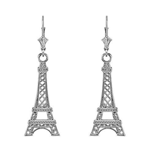 (925 Sterling Silver Paris Eiffel Tower Dangle)