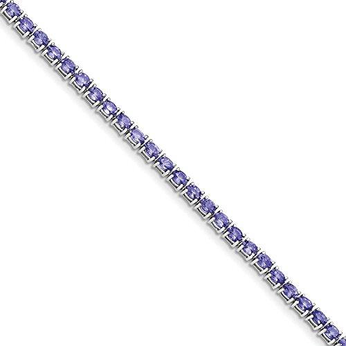 Bracelet Argent 925/1000Ovale Tanzanite 19,1cm