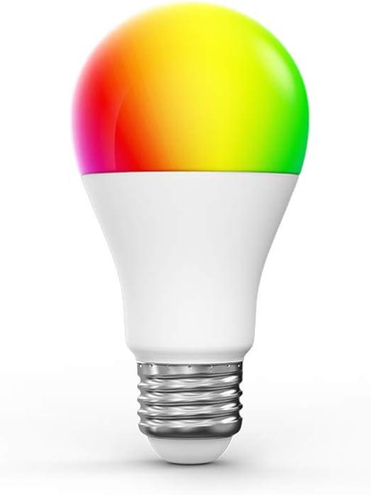 Woox Bombilla de luz inteligente, funciona con Alexa.
