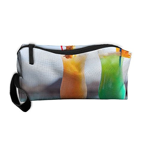 Cosmetic Bags With Zipper Makeup Bag Orange And