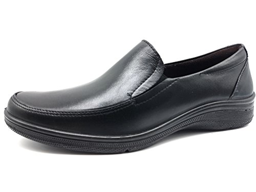 PITILLOS Women's Loafer Flats Black JZbqoceJ