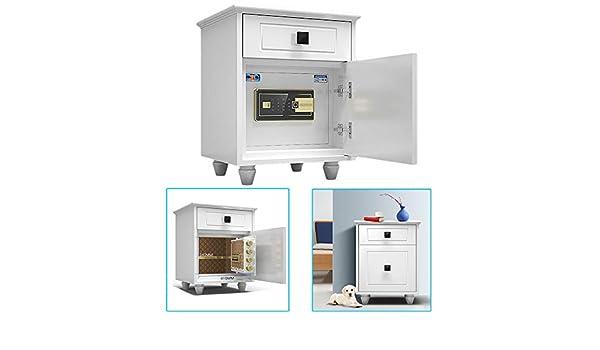 Ablea Caja Fuerte Digital para Oficina o Uso Doméstico,Huella Dactilar Desbloqueada, para Montaje en Pared o Suelo (49.5x46.5x60cm), Blanco: Amazon.es: Hogar